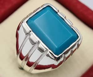etsy, jewellery, and mens turquoise ring image