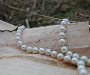 pearls, aesthetic, and Letter image