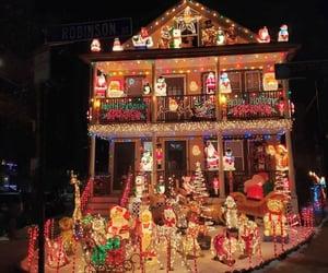 christmas, house, and christmas lights image