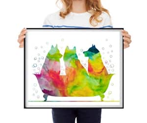 etsy, black watercolor, and funny wall art image
