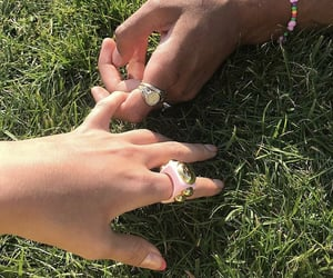 accessories, couple, and holding hands image