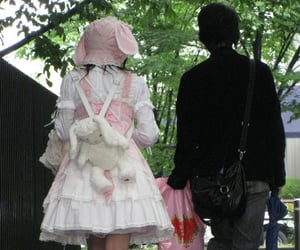 couple, bunny, and pink image