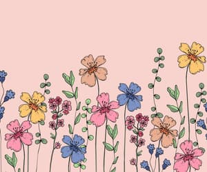 background, drawing, and flower image