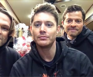 jared padalecki, misha collins, and Jensen Ackles image