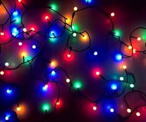 christmas lights, lights, and colored lights image
