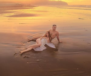 beach, couple, and sexy image