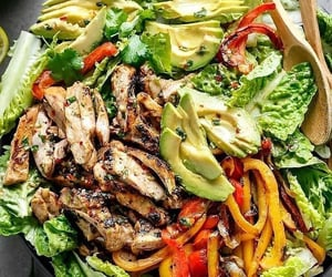 food, salad, and avocado image