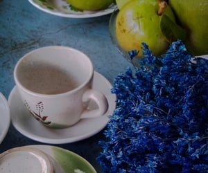 flowers, tea, and FRUiTS image