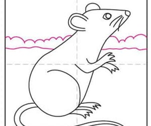 mouse drawing, how to draw mouse, and draw mouse for kids image