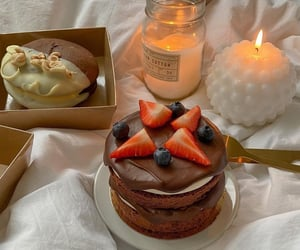 blogger, cake, and candle image