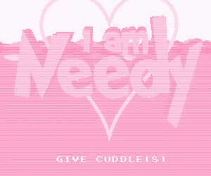 attention, cuddles, and hearts image