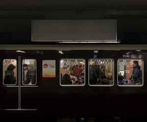 aesthetic, dark, and train image