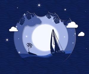 background, boat, and photoshop image
