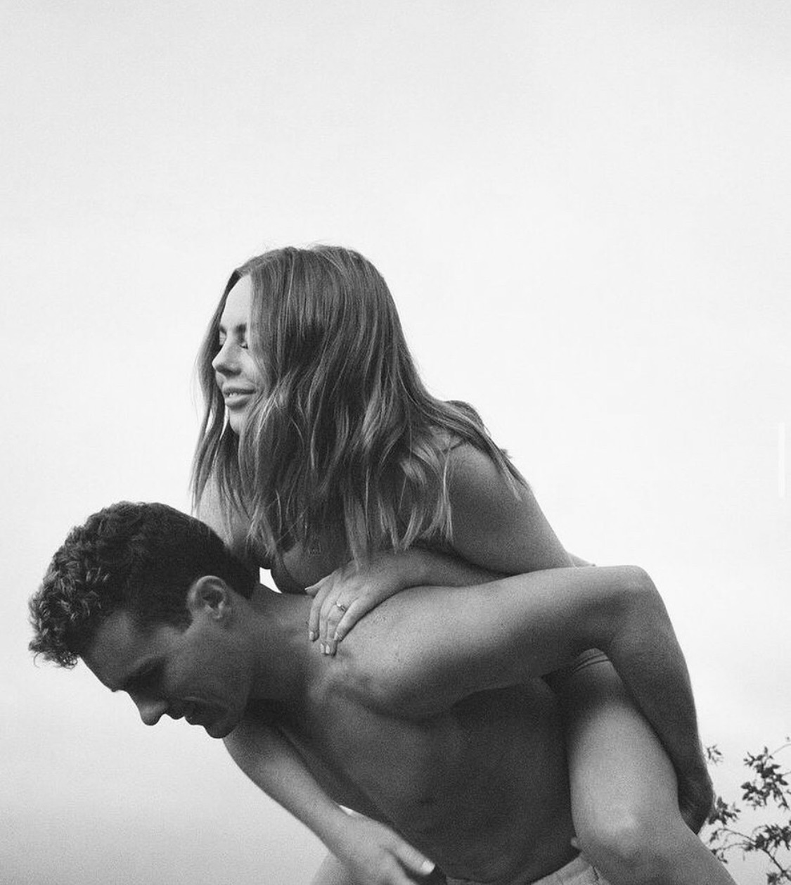 black and white, lovers, and love image