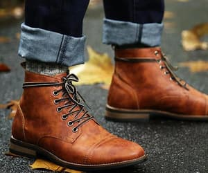 chelsea boots, tan suede boots, and men's brogue boots image