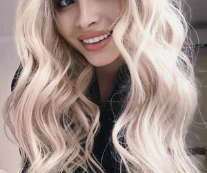 blonde, curly hair, and russia image