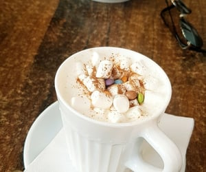 cafe, hot chocolate, and coffee image