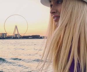 beach, long hair, and russian Girl image