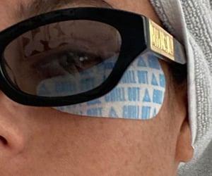 girl, skincare, and sunglasses image