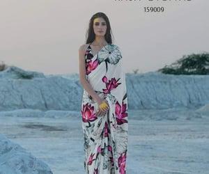 beauty, sari, and bollywood image
