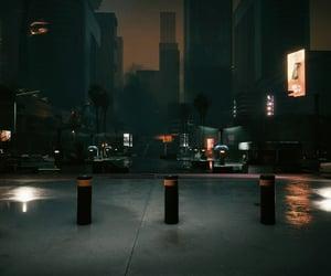 cyberpunk, empty, and night image