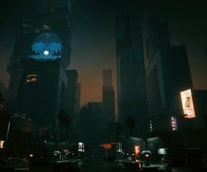 city, dark, and dreamlike image