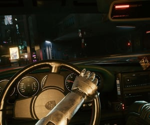 driving, city, and cyberpunk image