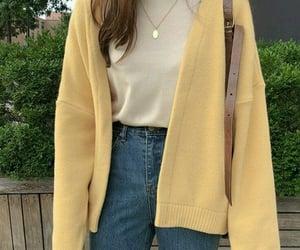 yellow, fashion, and korean image