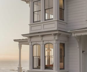beach house, sunset, and views image