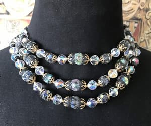 crystal necklace, old hollywood glam, and statement jewelry image