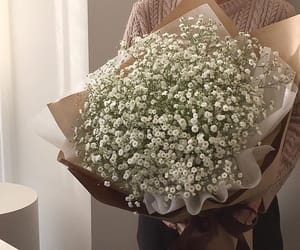 flowers, beige, and bouquet image