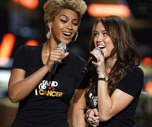 miley cyrus, queen b, and beyoncé image