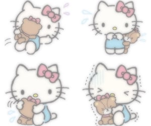 baby, hello kitty, and pastel image