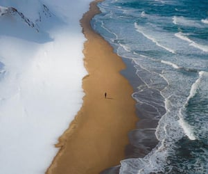 beach, nature, and snow image