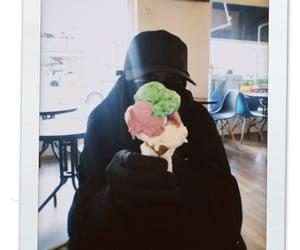 aesthetic, ice cream, and niqab image