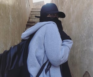 aesthetic, filter, and niqab image