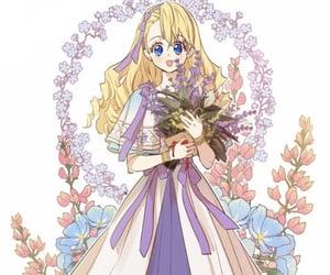 anime girl, athanasia, and lavender image
