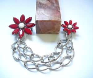 etsy, statement jewelry, and flower brooches image
