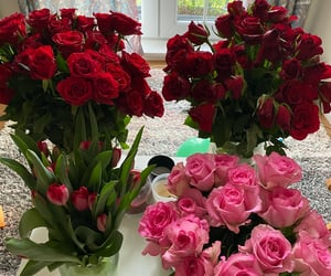 candles, flowers, and pink roses image
