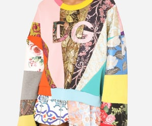 patchwork, fashion, and pullover image