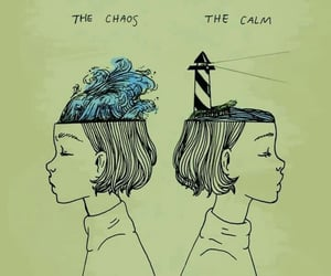 art, calm, and chaos image