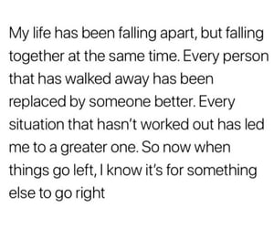 apart, falling, and life image