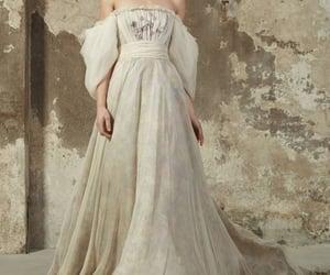 flower, model, and wedding dress image