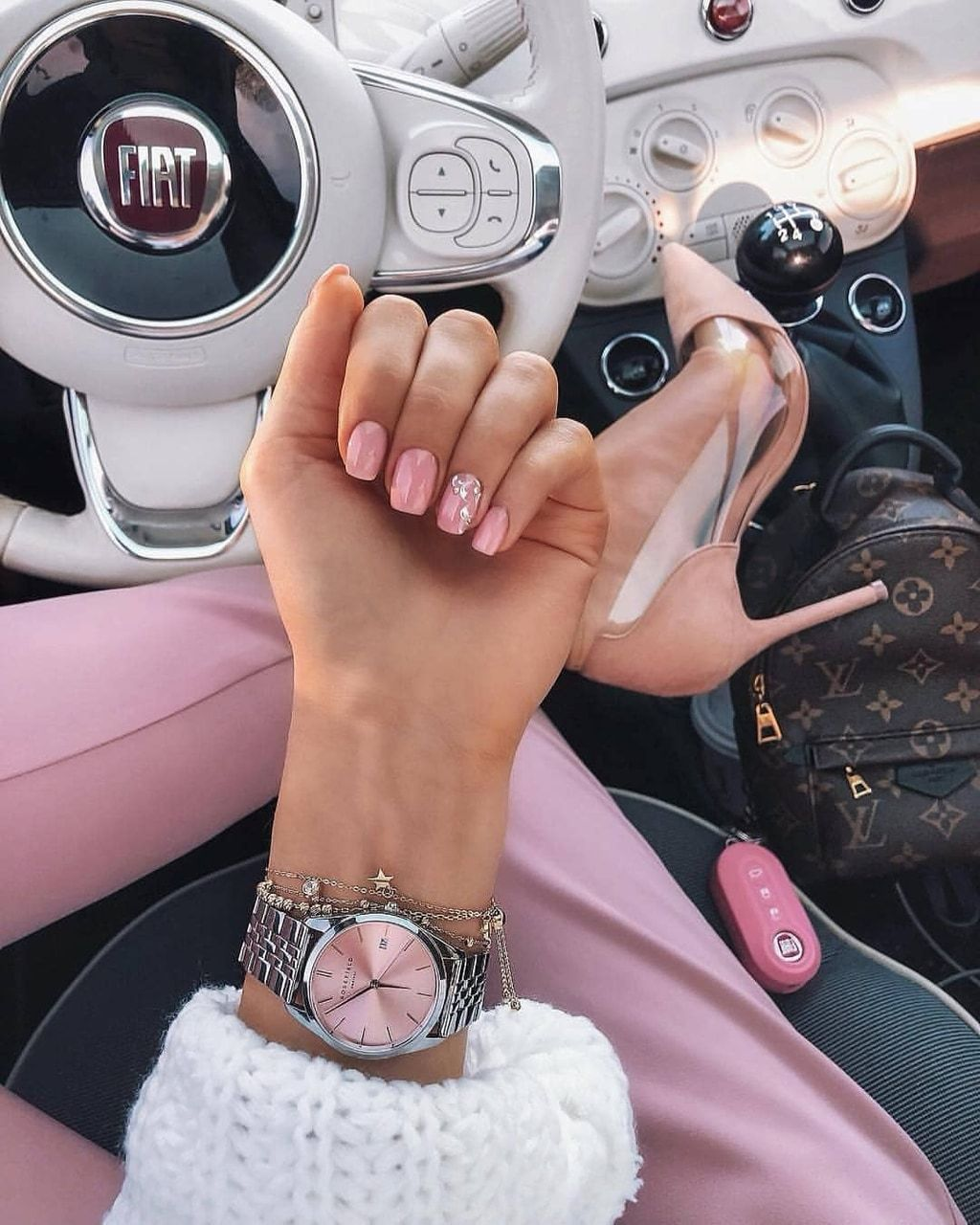 accessoires, car, and fiat 500 image