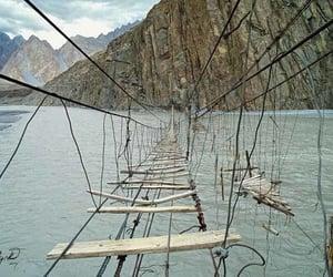 bridges, pakistan, and hussaini bridge image