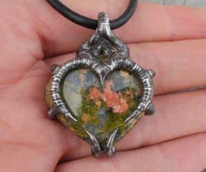 gemstone pendant, romantic pendant, and blacksmithworkshop image