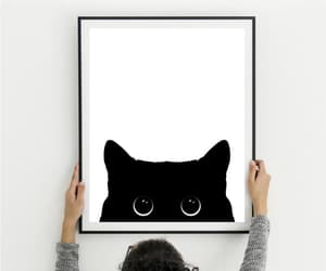 etsy, cat lover gift, and big cat eyes image