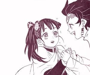 black and white, manga, and couple image