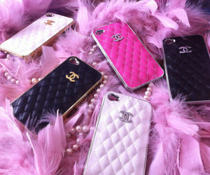 chanel, pink, and iphone image