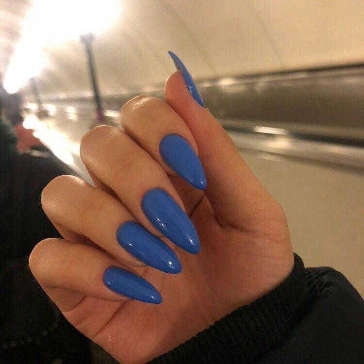 beauty, blue, and nailart image